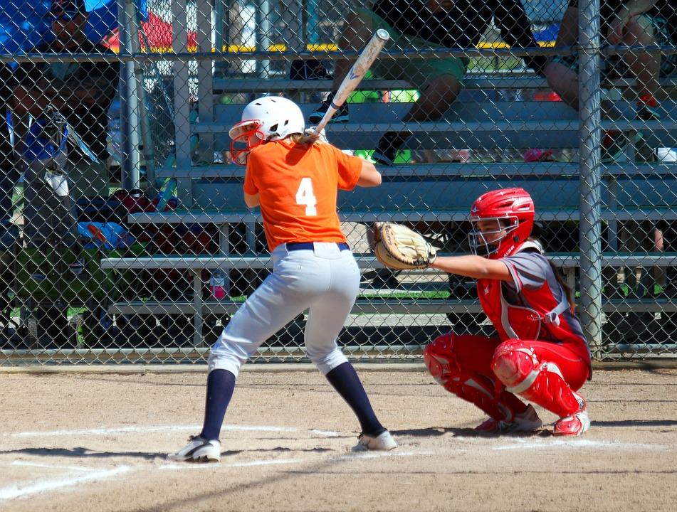 Softball, Baseball, Girls, Game, Team, Ball, Field