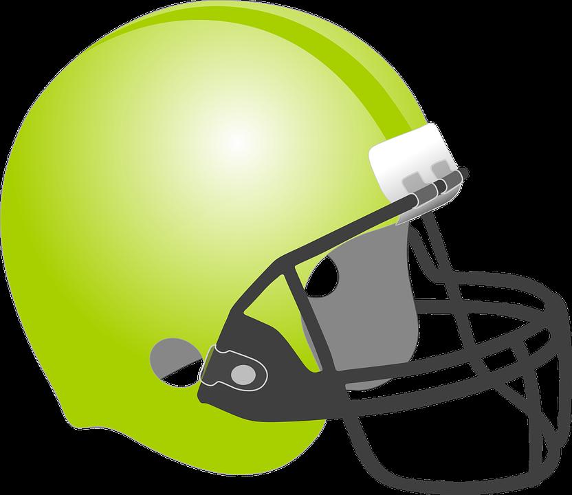 Football, Baseball, Helmet, Protection, Sport, Green