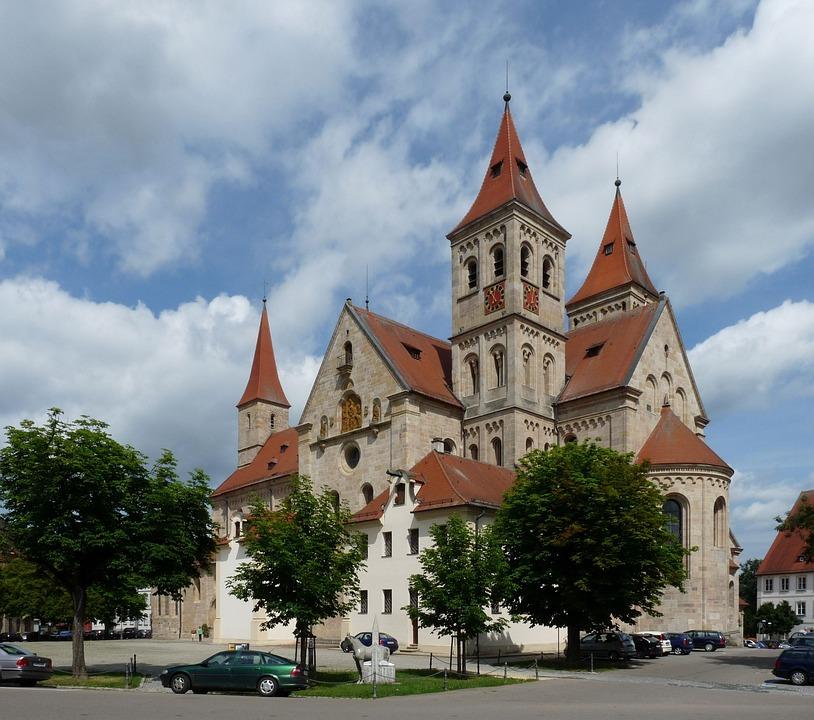Ellwangen, Basilica, Jagst, Architecture, Church