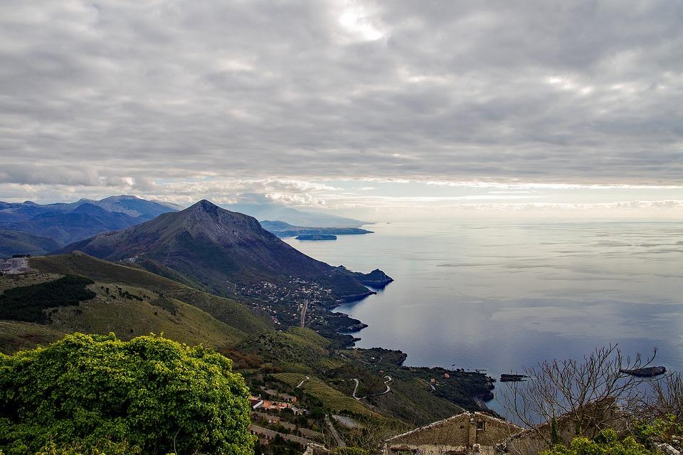 Maratea, Basilicata, Italy, Landscape, Sea, Clouds