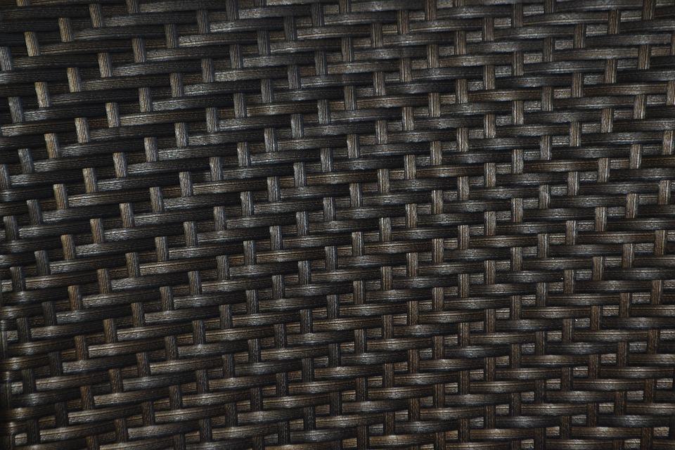 Basket, Basket Weave, Black, Furniture, Texture, Wicker