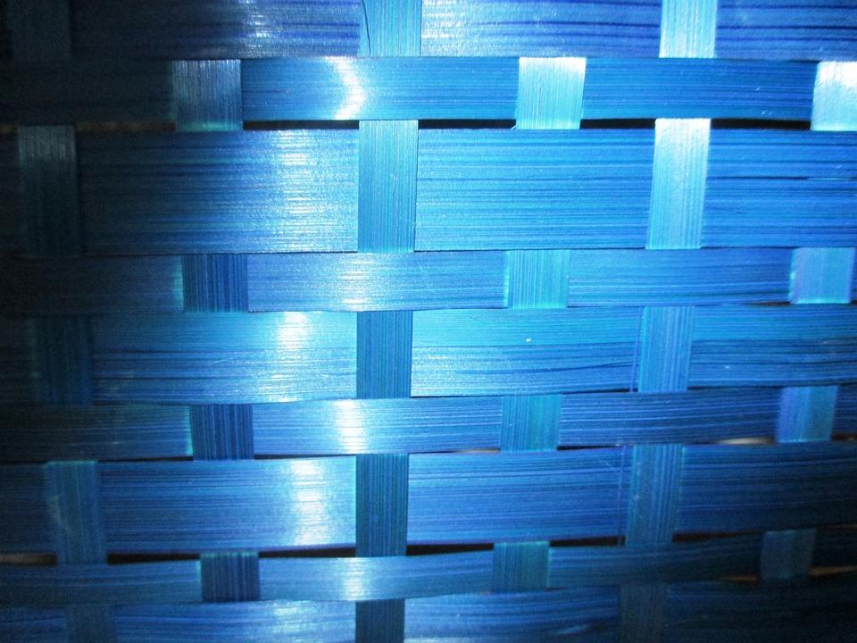 Basket, Braid, Light, Blue, Light Effect