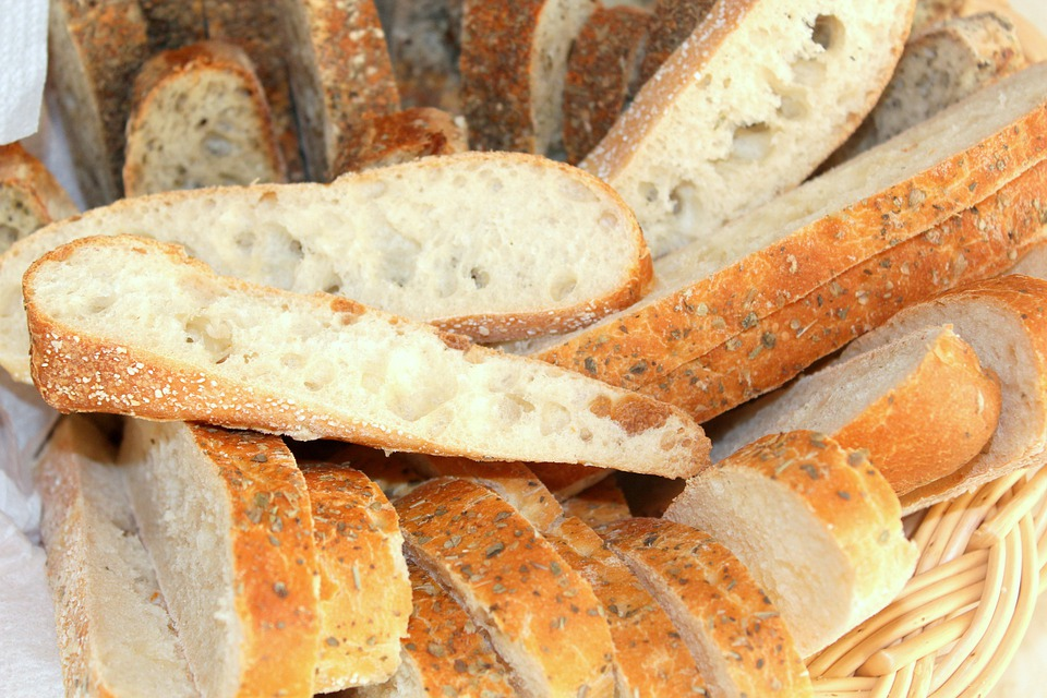 Basket, Bread, Focaccia