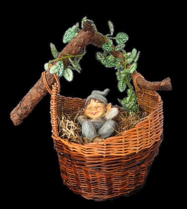 Emotions, Relaxation, Basket, Dwarf, Gnome, Sleep