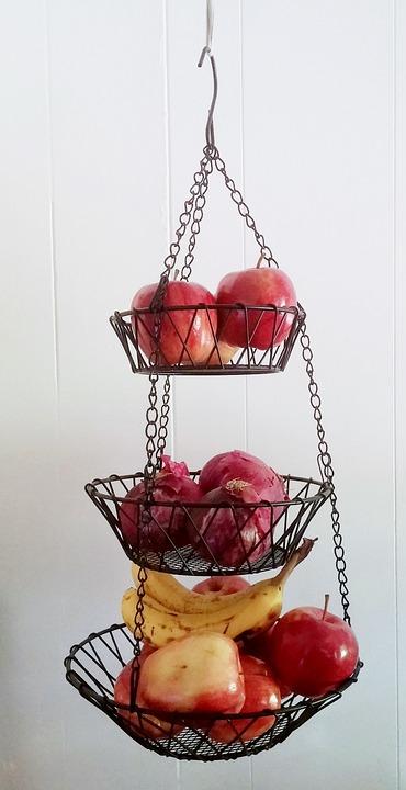 Hanging Basket, Wire Basket, Basket, Fruit Basket