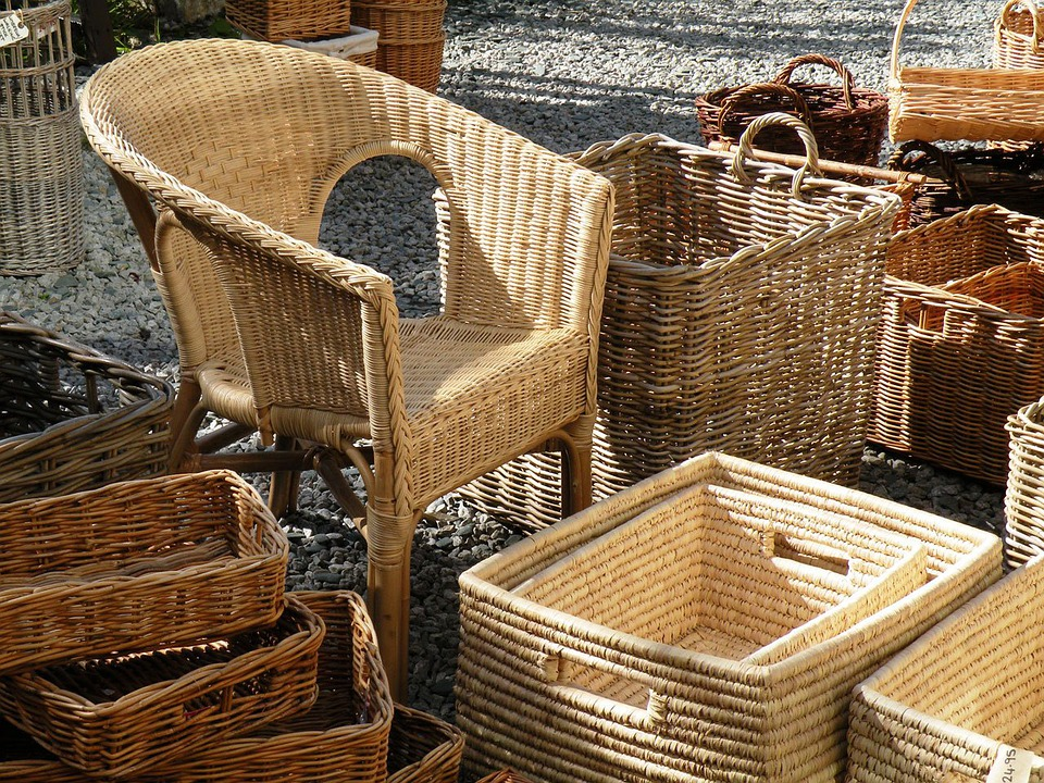 Wicker, Baskets, Wicker Chair, Basket-chair, Furniture