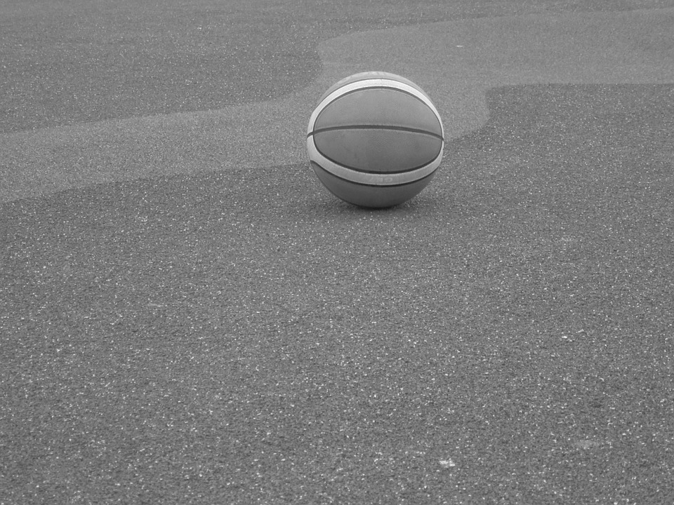 Ball, Basketball, Black And White, Game, Solitude