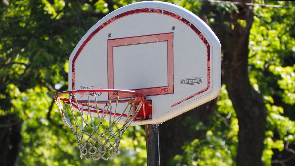 Basketball, Basketball Hoop, Rusted Basketball Hoop