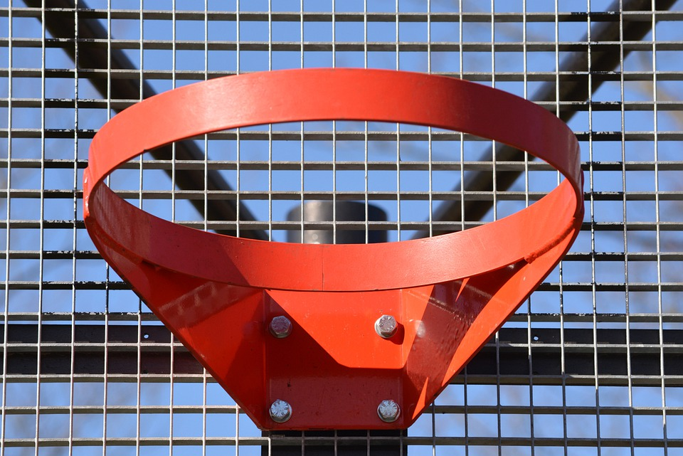 Basketball Hoop, Sports, Red