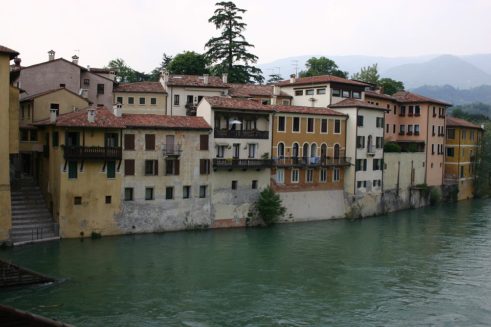 Italy, Bassano, Brenta, Old Town, Building, Picturesque