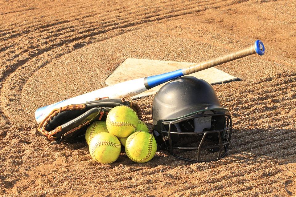 Softball, Gear, Equipment, Halmet, Bat, Peach, Sport