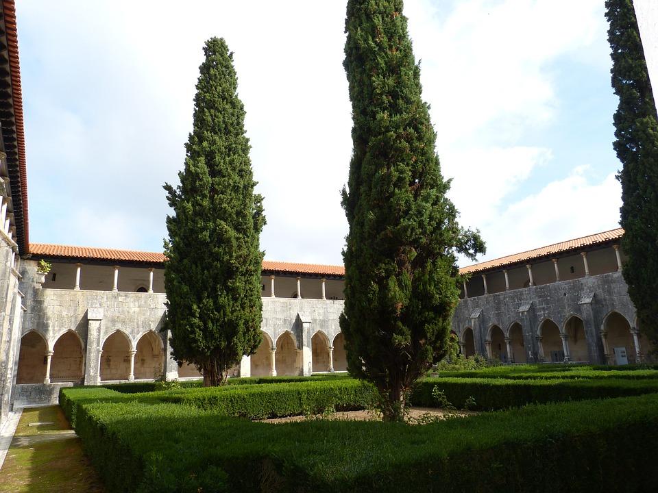 Cloister, Garden, Church, Batalha, Unesco, Building
