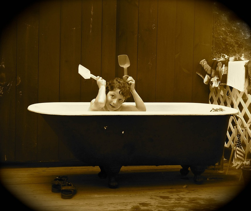 Free photo Bathing Sepia Bath Antique Shoes Tub Silly Boy - Max Pixel