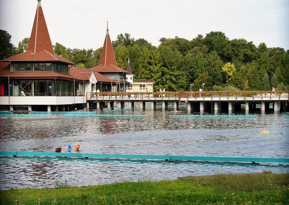Hevíz, The Thermal Lake, Hungary, Spa, Bathing