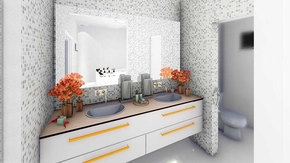Bathroom, Decoration, Interiors, Architecture, Lighting