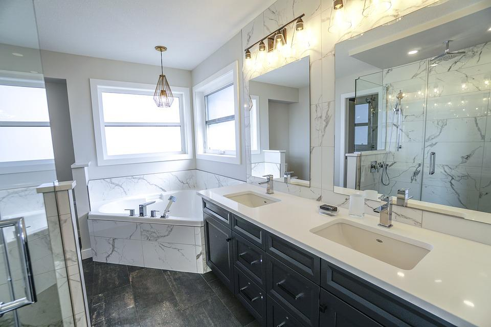 Bathroom, Luxury Bathroom, White, Luxury, Interior