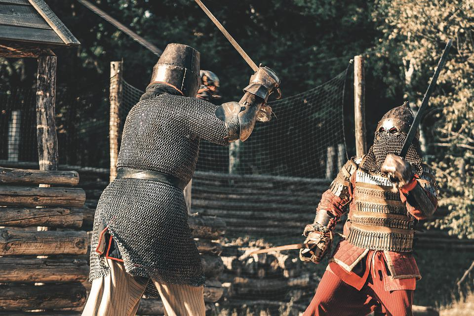 Knight, Armor, Battle, Medieval, Weapons, Sword