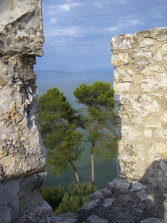 Battlements, Castle, Middle Ages, Loopholes