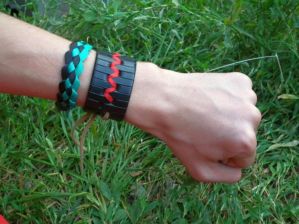 Hand, Fist, Bracelet, Baubles, Men's, Teen, Young, Tape
