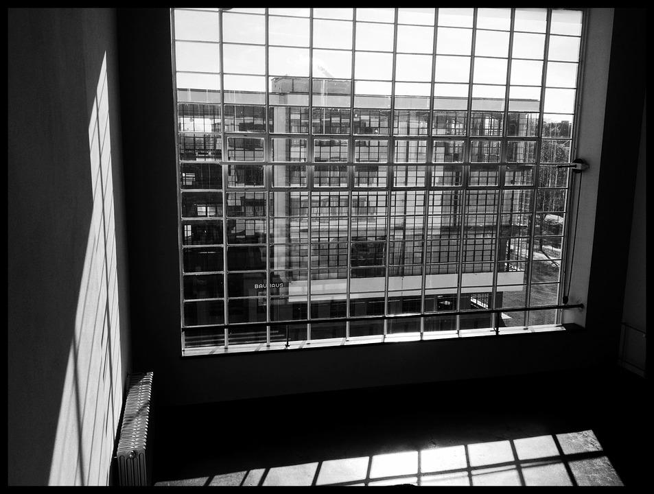 Window, Room, Bauhaus, Dessau, Germany, Architecture