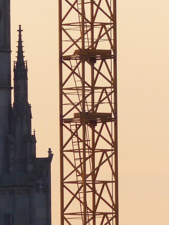 Crane, Baukran, Scaffold, Crane Tower, Access Ladder