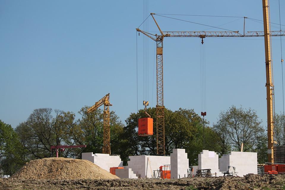 Site, Crane, Baukran, Build, Sky, Construction Work