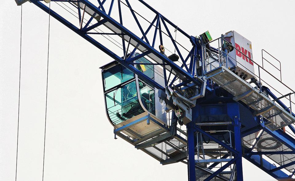Crane, Crane Operator, Site, Baukran, Build