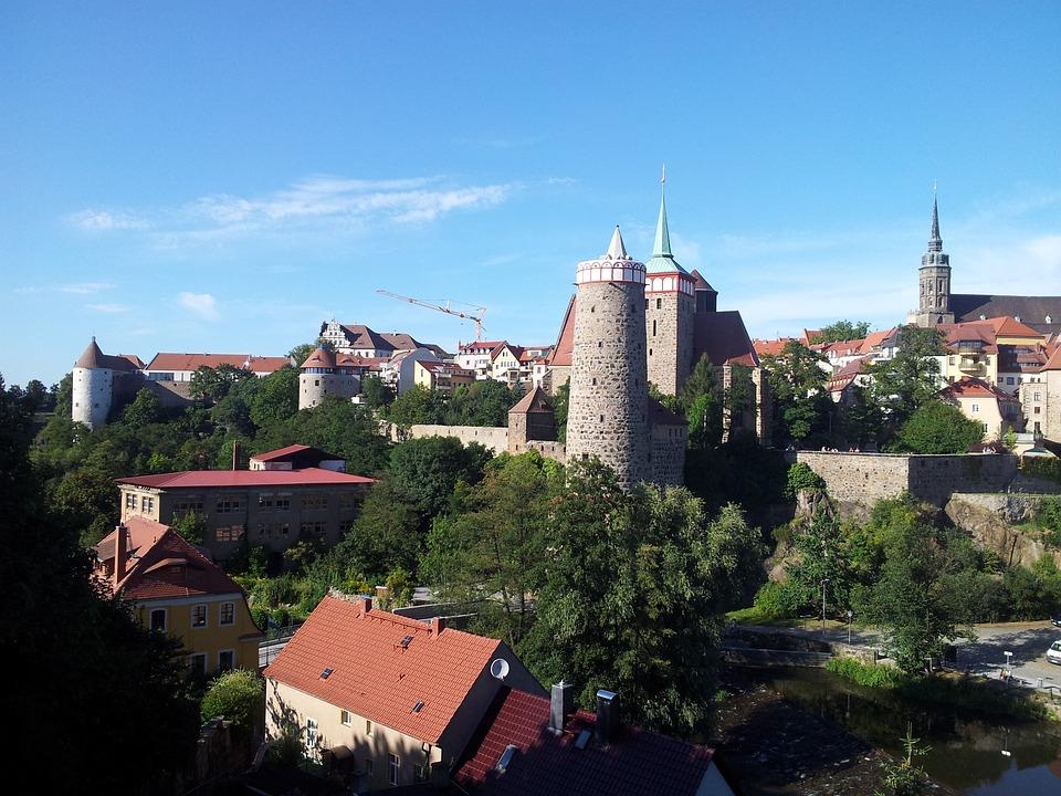 Bautzen, Germany, Towers, Summer, Sky, Blue