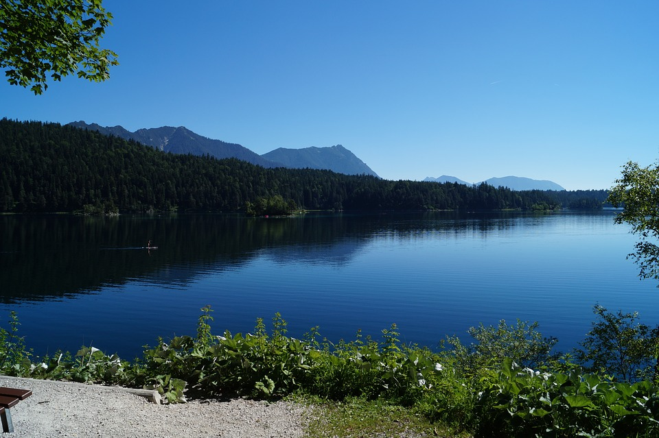 Eibsee, Bavaria, Lake, Water, Mirroring, Nature