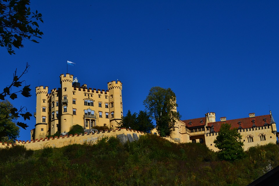 Castle, Hohenschwangau, Bavaria, Germany, Füssen