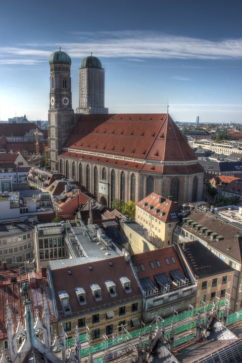 Frauenkirche, Munich, Germany, City, Metropole, Bavaria