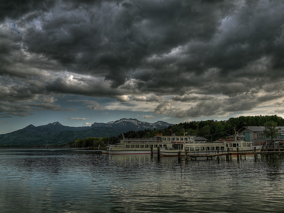 Chiemsee, Ship, Water, Lake, View, Bavaria, Mountain