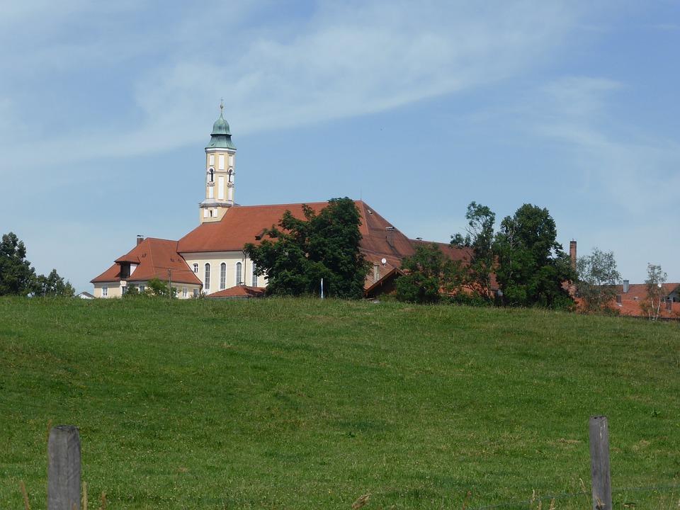 Menchie Mountain Monastery, Bavaria, Monastery, Church