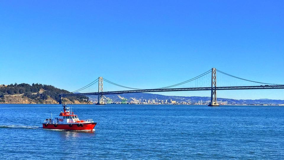 San Francisco Bay, Bay Bridge, Boat, Ship, Bay, Water