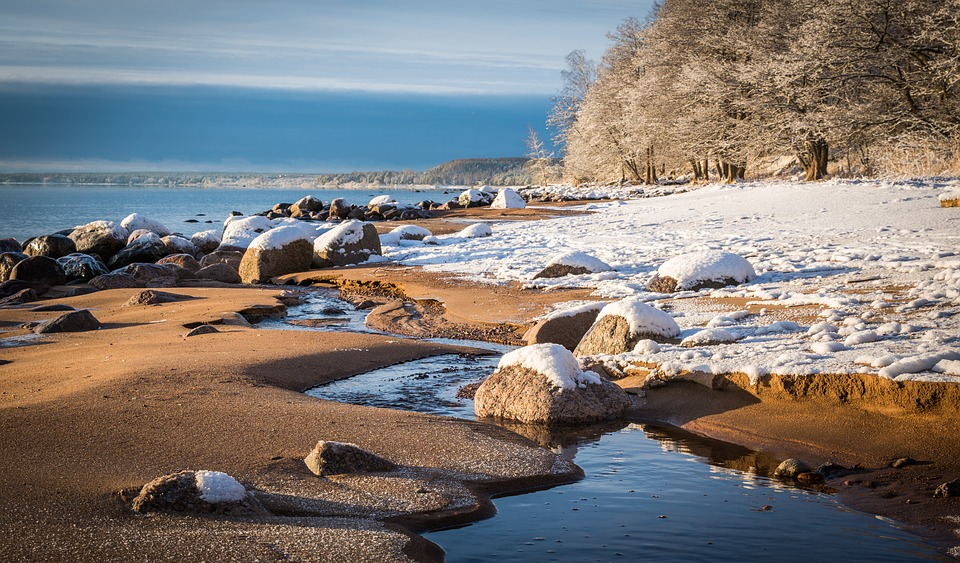 Water, Coast, Sea, Nature, Beach, Stones, Creek, Bay