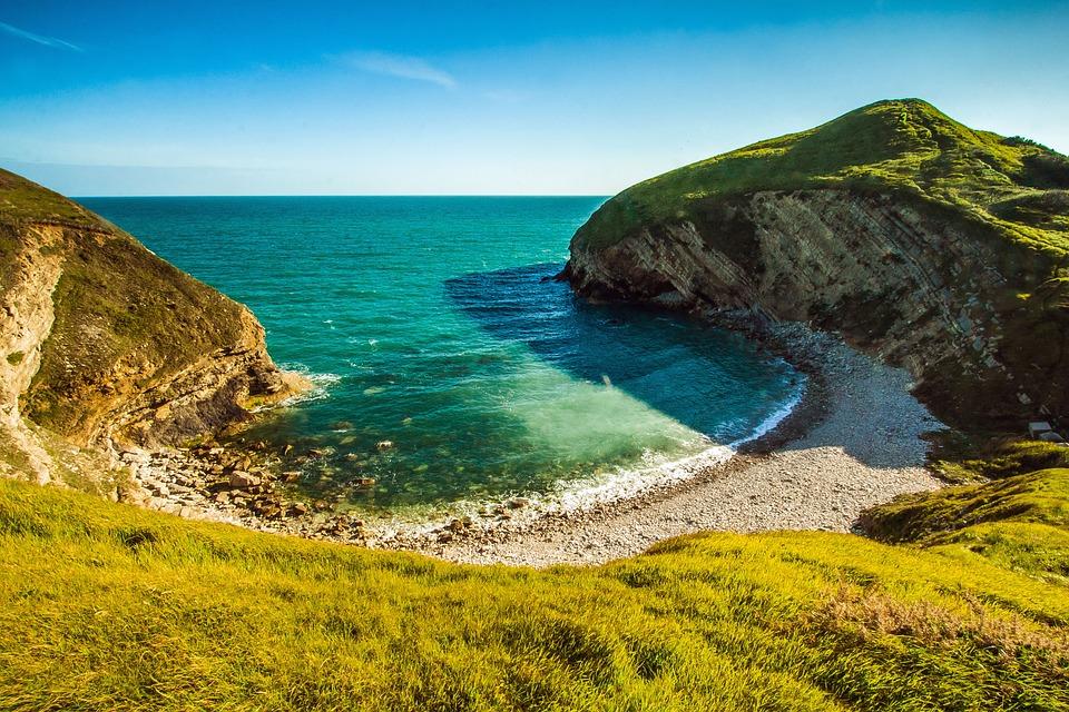Dorset, Seascape, Bay, Reef