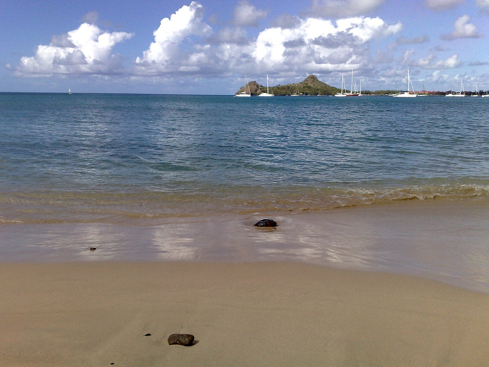 Rodney, Bay, St Lucia, Caribbean, Sea, Beach, Holiday