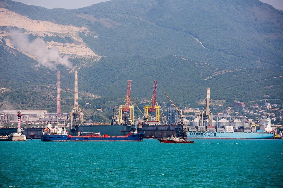 Sea, Port, Crane, Ship, Loading, Bay, City
