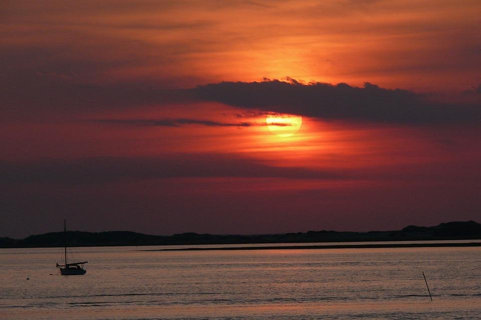 Sunset, Cape Cod, Sea, Water, Color, Bay, Scenic, Shore