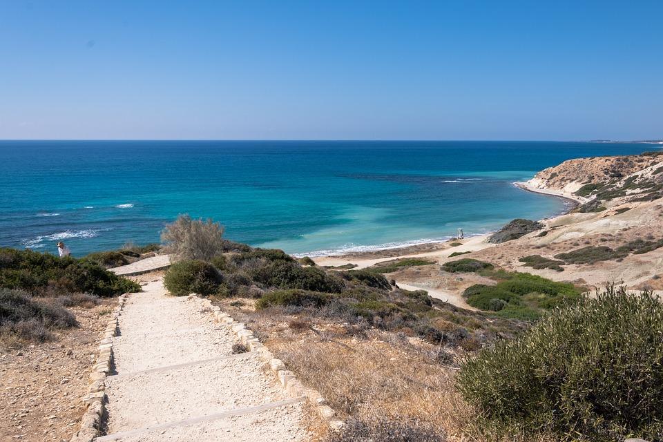 Path, Sea, Bay, Landscape, Vacation, Seashore