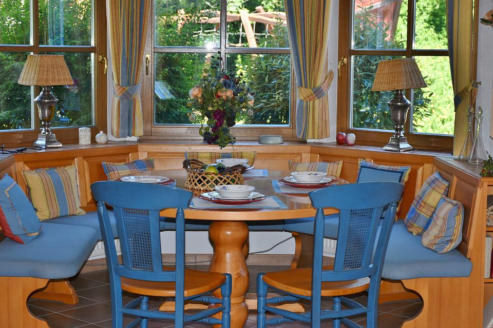 Dining Room, Dining Area, Bay Window, Country House