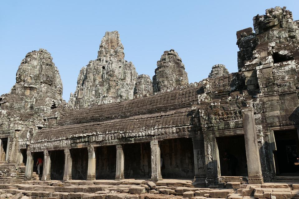 Cambodia, Angkor, Asia, Temple Complex, History, Bayon