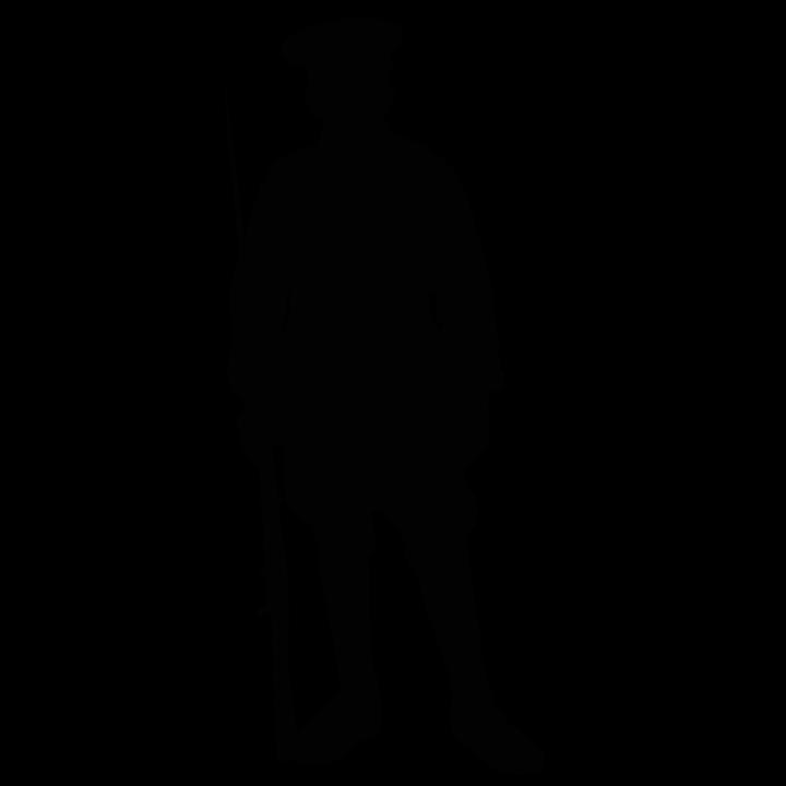 Silhouette, Soldier, War, Weapon, Bayonet, Guard