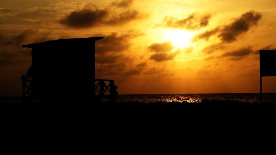 Sunset, Baywatch, Orange, Ray Of Light, Sun Sunset