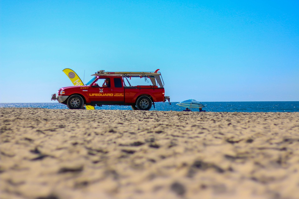 Sand, Beach, Summer, Nature, Waters, Auto, Baywatch