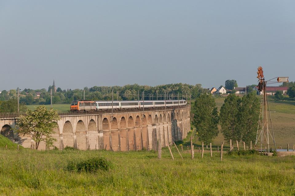 Train, Sybic, Bb26000, Night Train, Viaduct