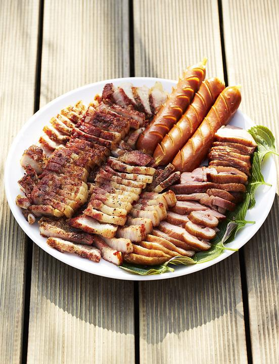 Pork, Sausage, Bbq Duck