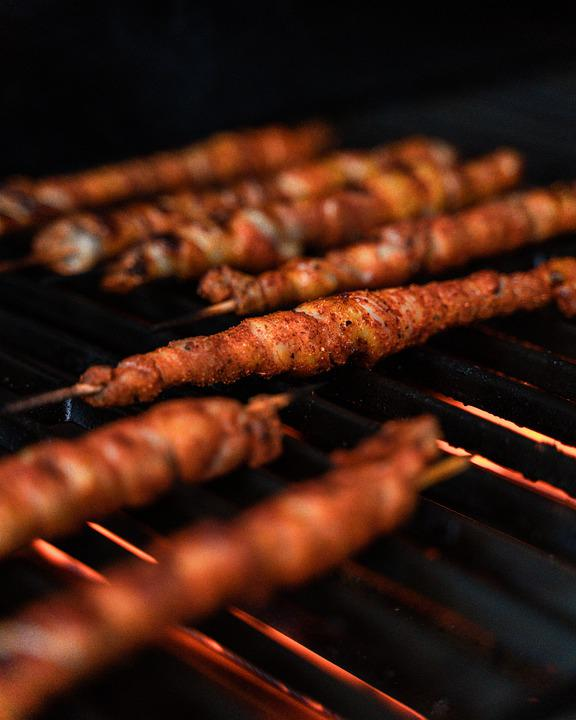 Barbecue, Meat, Torches, Grill, Bbq, Food, Eat