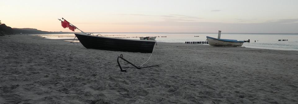 Boot, Fishing Boat, Sea, Beach, Mood, Abendstimmung