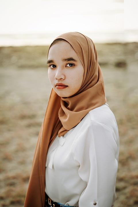 Model, Woman, Hijab, Beach, Muslim, Islam, Asian